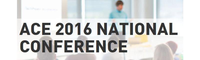 ACE 2016 National Conference - Save the Date