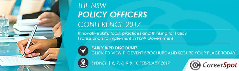 The NSW Policy Officers Conference 2017